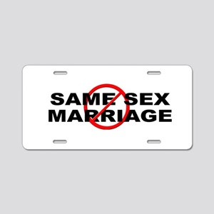 Anti / No Same Sex Marriage Aluminum License Plate